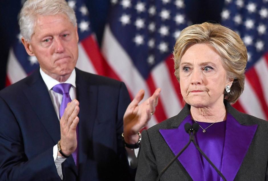 9. November 2016: Einen Tag nach der Wahl gesteht Hillary Clinton ihre Niederlage ein.