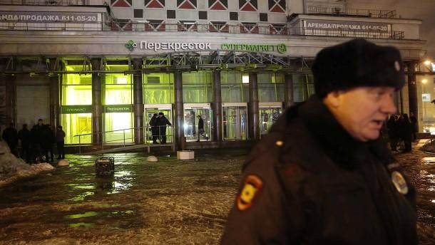 Bombe verletzt neun Menschen in St. Petersburg