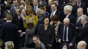 Nach der Abstimmung Ruhe im Saal