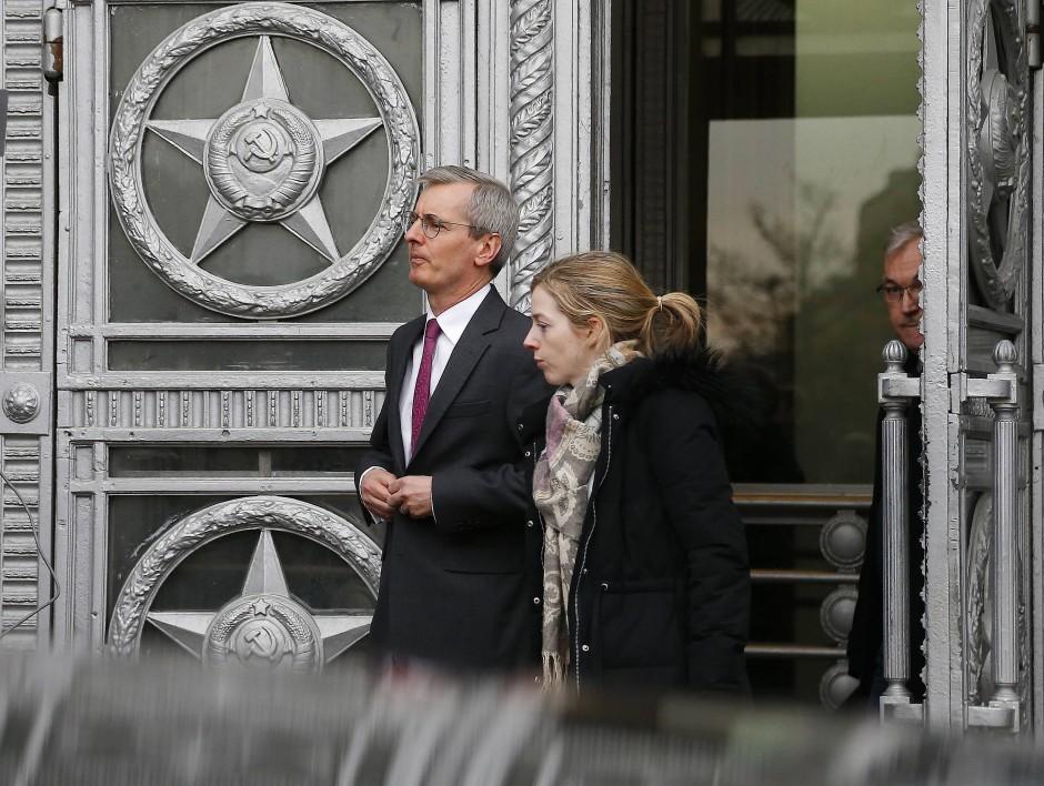 Der britische Botschafter, Laurie Bristow., in Moskau.