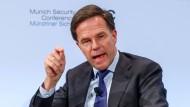 Der niederländische Regierungschef Mark Rutte bei der Münchner Sicherheitskonferenz