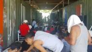 In dem Flüchtlingslager auf Manus waren nur männliche Flüchtlinge zurückgeblieben.