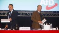 Verzichtet: Alexander Gauland auf dem AfD-Parteitag in Hannover mit Georg Pazderski