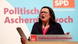 """Nahles: Merkels """"Göttinnendämmerung"""" hat begonnen"""