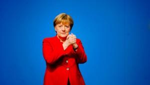 Merkel mit 89,5 Prozent zur CDU-Vorsitzenden wiedergewählt