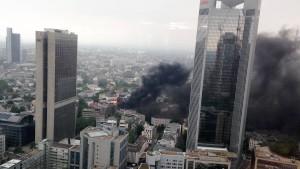 Baustellenbrand im Bankenviertel