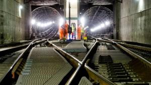 Tunnelsperrung in  Osterferien