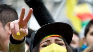 Kurden protestieren gegen türkischen Militäreinsatz