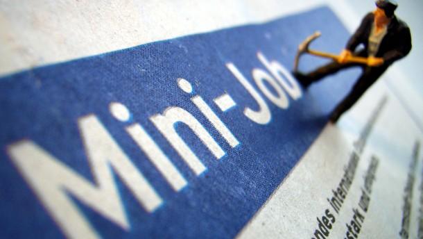 Minijob-Zentrale vermutet Mindestlohn als Ursache für Minijob-Abbau
