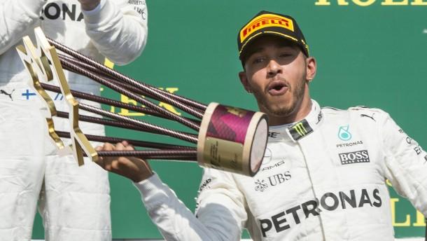 Hamilton auf Wolke sieben zum Sieg