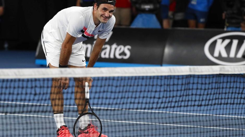 Müder Held: Federer nach dem Matchball