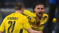 Marcel Scmelzer trifft doch noch entscheidend für Borussia Dortmund.
