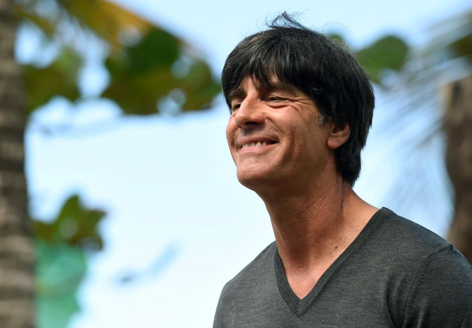 Allen Grund zur Freude: Joachim Löw geht in sein erstes WM-Finale als Trainer