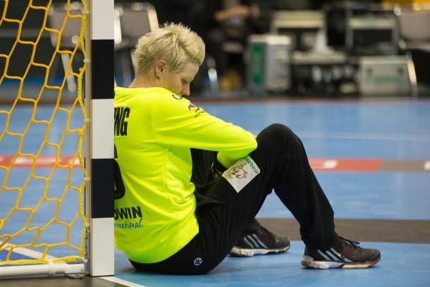 Frustrierte Handballerin