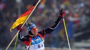 Deutscher Staffelsieg im Sturm von Oberhof