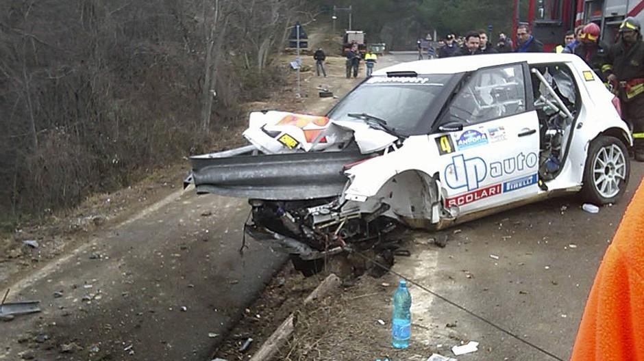 Bei einer Rallye in Italien verletzte sich der Pole schwer im Jahr 2011.