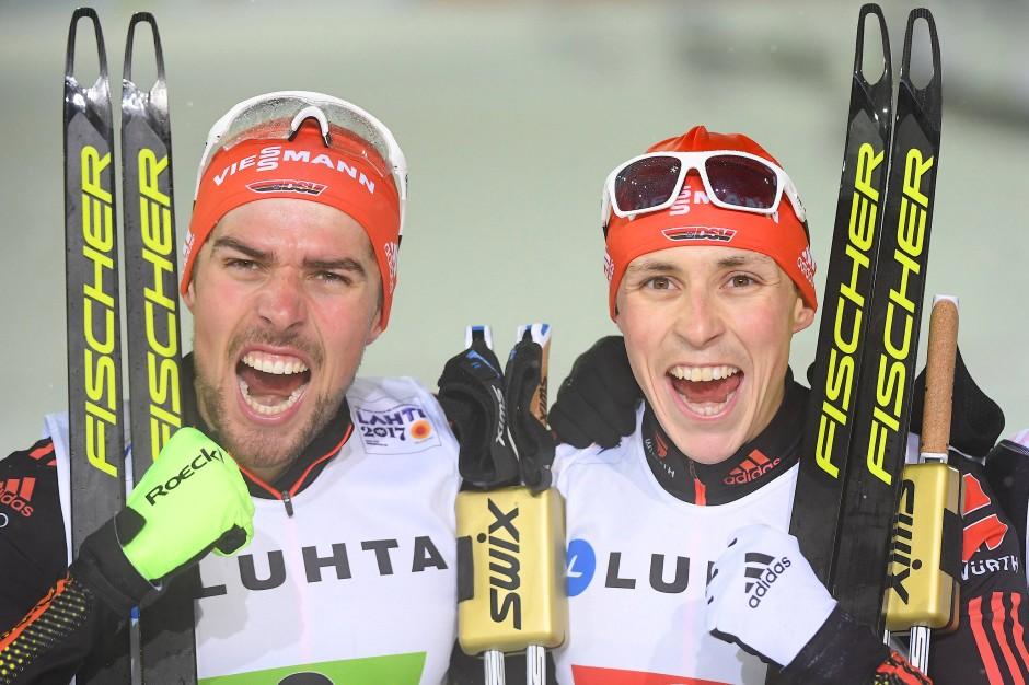 Johannes Rydzek (l) und Eric Frenzel: Einer der beiden gewinnt eigentlich immer.