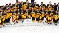 Silber gewonnen statt Gold verloren – die deutschen Eishockey-Spieler.