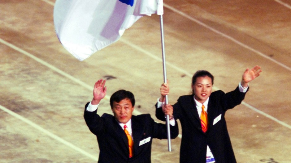 Ein bisschen gemeinsam – eine Flagge, zwei Mannschaften, Sydney 2000