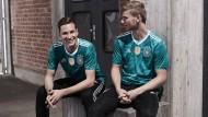 Grün und im Design wie in den Neunzigern: das Auswärtstrikot der Fußball-Nationalmannschaft für die WM in Russland.
