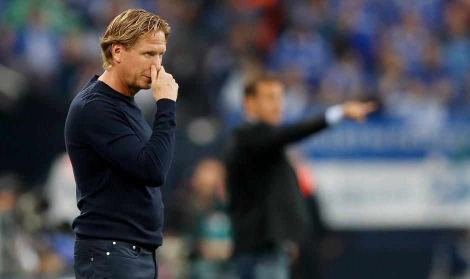 Zum Nase rümpfen: HSV-Trainer Markus Gisdol scheint etwas ratlos zu sein.