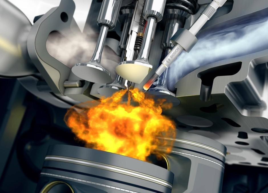 Gezündet wird im Dieselmotor unter immer höherem Druck