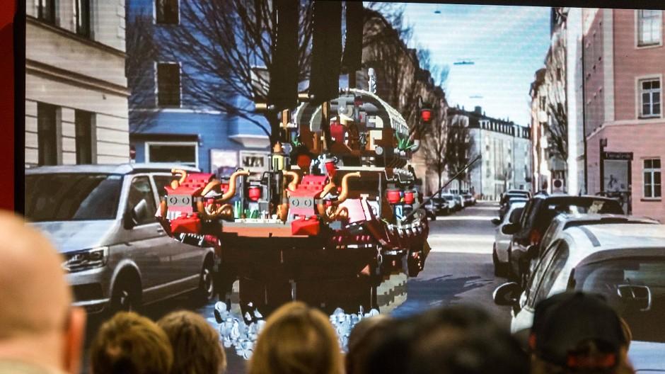 Mit Augmented Reality fährt man mal mit Lego durch die realen Straßen ...