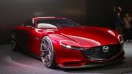 Mazda RX Vision: Recht atemraubender Ausblick auf den nächsten Sportwagen der Japaner. Soll wieder mit Wankelmotor kommen. Und mehr als 350 PS haben. Wow, schnell her damit!