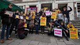 Größter Universitätsstreik der Geschichte in Großbritannien