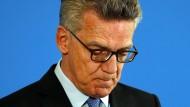 Sorgt sich: Innenminister Thomas de Maiziere (CDU)