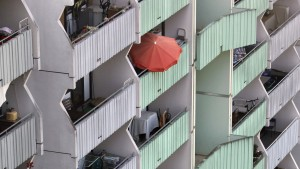 Baugrube sozialer Wohnungsbau