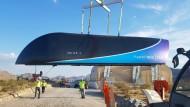 Der Hyperloop One in der Wüste nahe Las Vegas