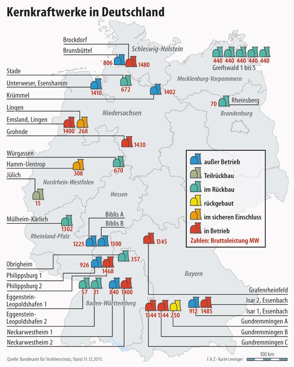 Bilderstrecke zu: Der Rückbau eines Atomkraftwerkes am Beispiel ... - Atomkraftwerke In Deutschland Karte