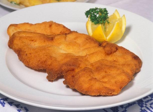 Wiener Schnitzel, klassische Wiener Speise, Wiener Küche