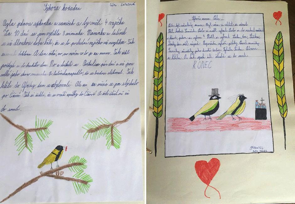 Weitere Seiten aus dem Vogelbuch.