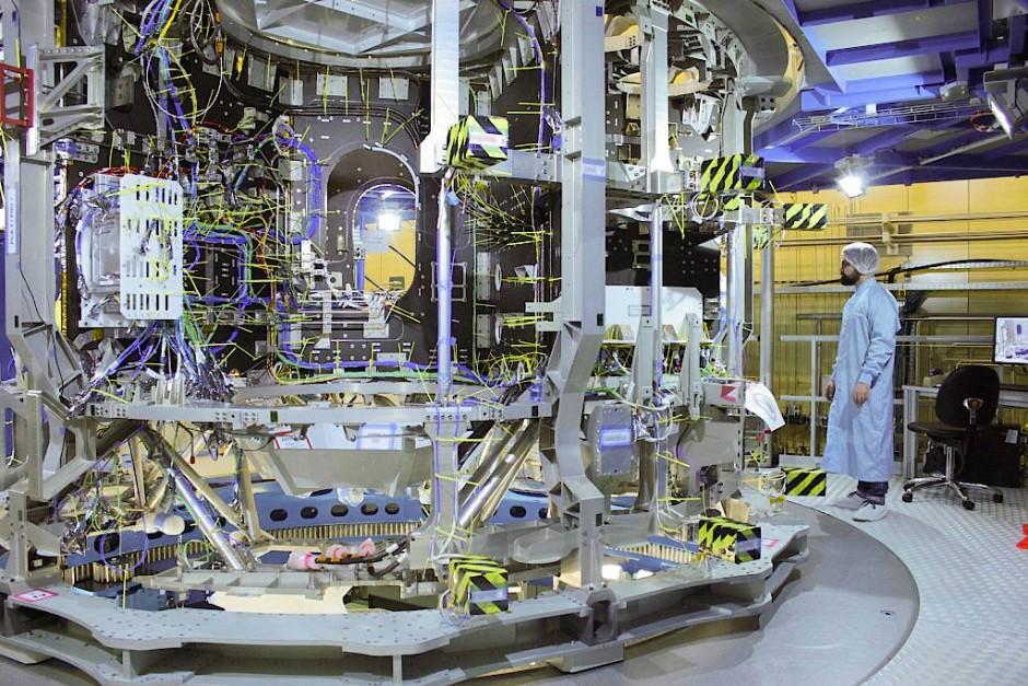 Das Europäische Servicemodul ESM bei der Fertigung in Bremen
