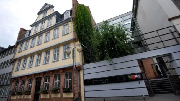 Goethe Haus Es lag Welt in Scherben Frankfurt FAZ