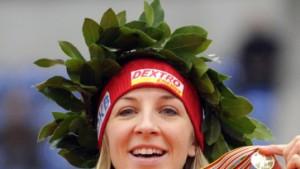 Anni Friesinger gewinnt Gold über 1500 Meter